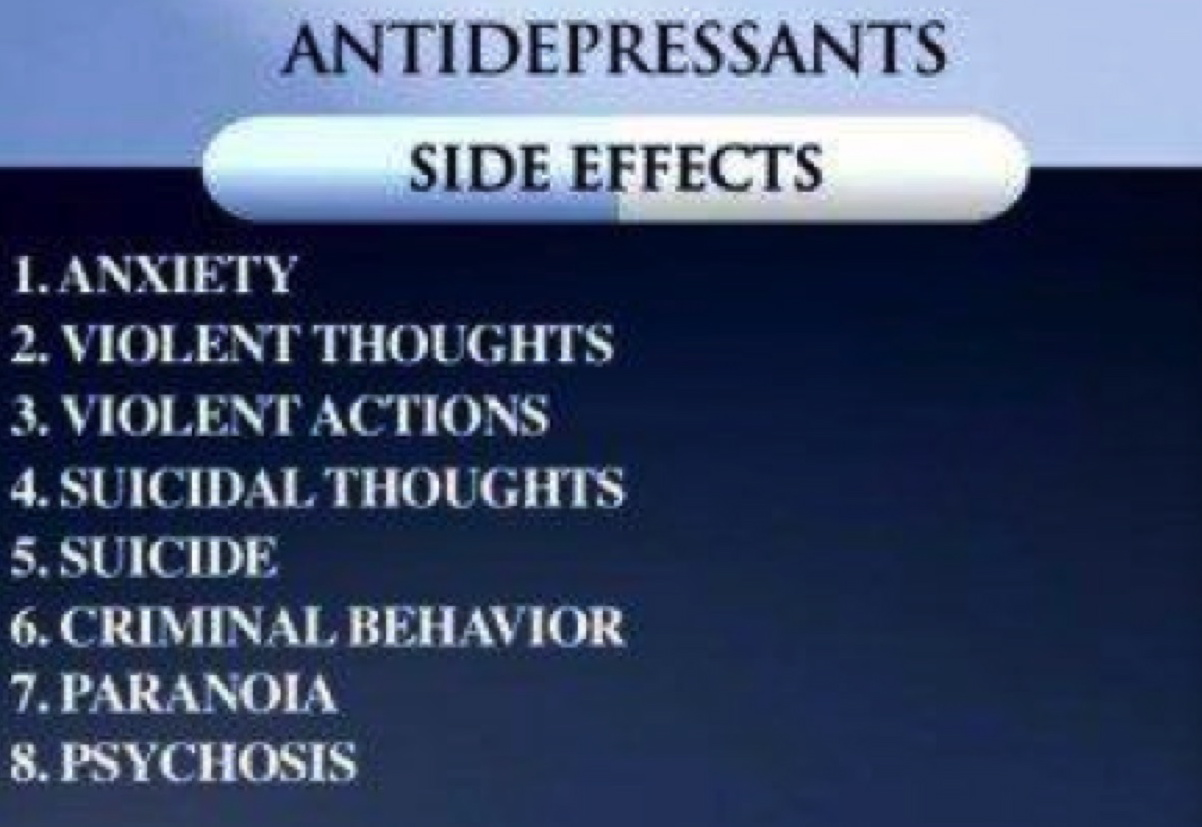 Anti-depressant Side Effects
